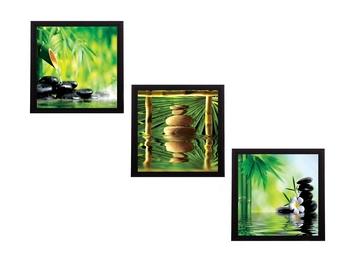 Set Of 3 Stones and Owner Satin Matt Texture UV Art Painting