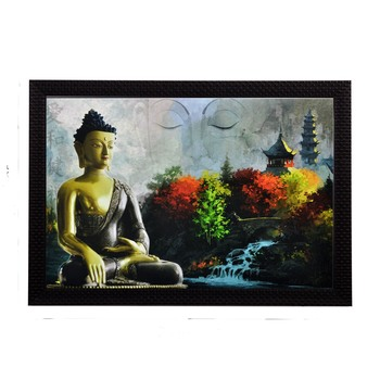 Meditating Buddha Satin Matt Texture UV Art Painting