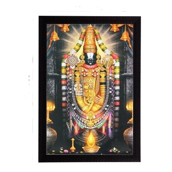 Lord Balaji Satin Matt Texture UV Art Painting