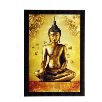 Meditating Beautiful Buddha Satin Matt Texture UV Art Painting