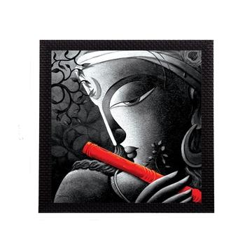 Almighty Lord Krishna Satin Matt Texture UV Art Painting