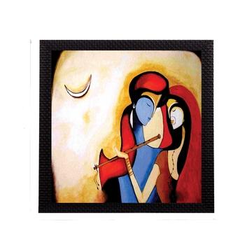 Divine Radha Krishna Satin Matt Texture UV Art Painting