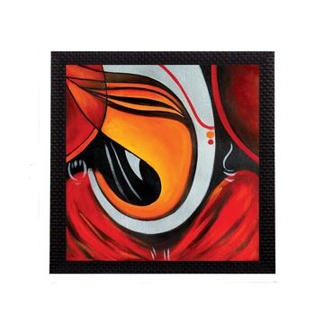 Powerful Lord Ganesha Satin Matt Texture UV Art Painting