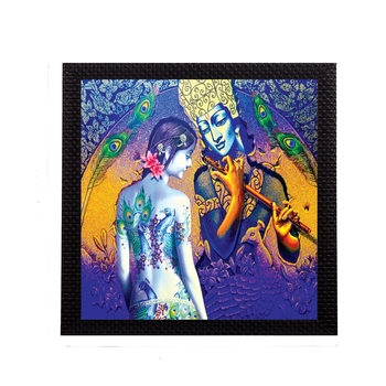 Artistic Lady and Krishna Figurine Satin Matt Texture UV Art Painting