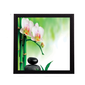 White Botanical Floral Satin Matt Texture UV Art Painting