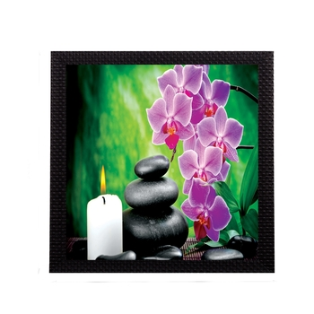 Pink Flower and Candle Satin Matt Texture UV Art Painting