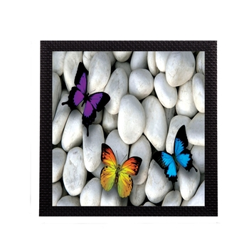 Butterfly On Stones Satin Matt Texture UV Art Painting