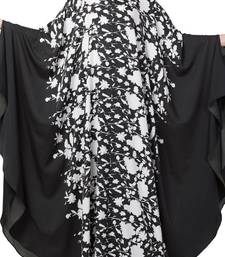 Crepe Black And White Printed Irani Kaftan