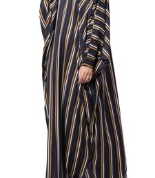Crepe Striped Kaftan With Belt