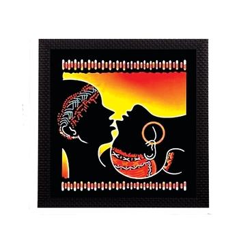 Lovely Tribal Couple Satin Matt Texture UV Art Painting