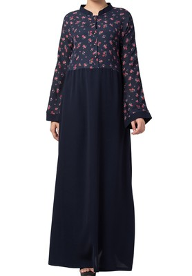 Printed Abaya Like Dress For Daily Use  Made In Crepe And Moss Fabric