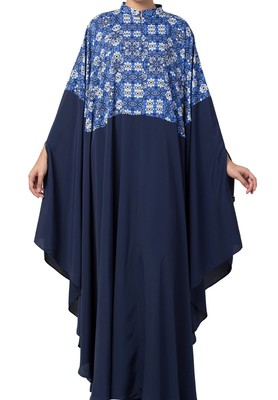Multi Color Irani Kaftan in Printed Fabric Made in Crepe and Moss Fabric