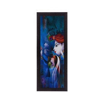 Lord Krishna Radha Satin Matt Texture UV Art Painting