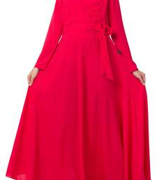 Modest Dress For Fashion Lovers Made In Nida Matte Fabric