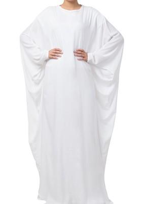 Stylish White Kaftan In Nida Matte fabric Made in Nida Matte fabric