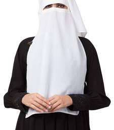 White Naqaab For Any Abaya Made In Nida Matte Fabric