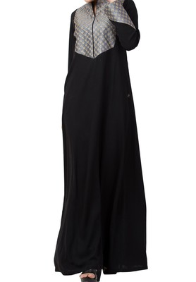 Modest Designer Dress For Special Occasions Made in Nida Matte fabric