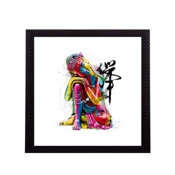 Colorful Lord Buddha Satin Matt Texture UV Art Painting