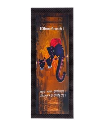 Face Of Ganesha Satin Matt Texture UV Art Painting