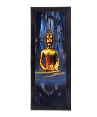 Meditating Lord Buddha Satin Matt Texture UV Art Painting