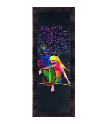 Lordess Radha Krishna Satin Matt Texture UV Art Painting