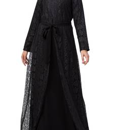 Abaya Like Dress In Dual Layer Made In Nida Matte And Net Fabrics