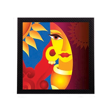 Beautiful Lady Face Satin Matt Texture UV Art Painting