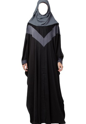 Elegant Kaftan in Dual Color Made in Premium Nida Fabric