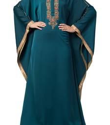 Royal Nida Kaftan Dress With Dabka Work For Special Occassions