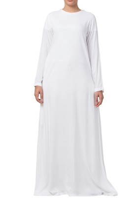 A Line Abaya Made In Rayon Cotton Fabric With Side Pockets