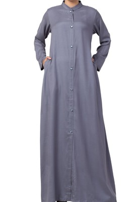 Abaya Like Dress In Cotton Rayon
