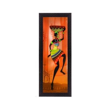 Colorful Tribal Woman Satin Matt Texture UV Art Painting
