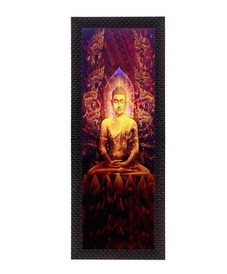 Enlightening Lord Buddha Satin Matt Texture UV Art Painting