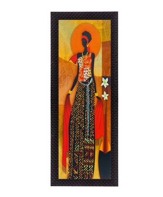 Colorful Tribal Woman Satin Matt Texture UV Art Painting