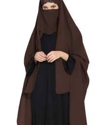 Irani Chadar -Rida Hijab With Detachable Nose Piece-Made In Nida Matt-Brown