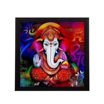 Colorful Ganesha Satin Matt Texture UV Art Painting