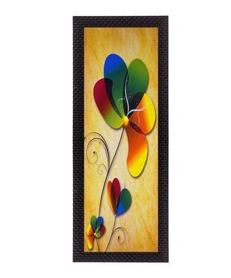 Colorful Flower Satin Matt Texture UV Art Painting