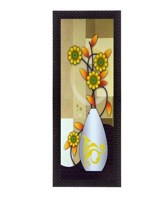 Botanical Yellow Floral Satin Matt Texture UV Art Painting