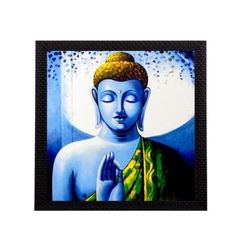 Meditating Lord Buddha Satin Matt Texture UV Art Painting