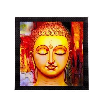 Glowing Lord Buddha Satin Matt Texture UV Art Painting