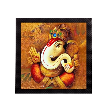 Divine Lord Ganesha Satin Matt Texture UV Art Painting