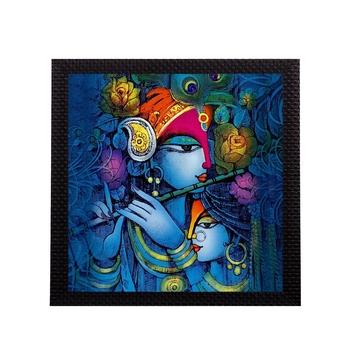 Blue Lord Krishna Satin Matt Texture UV Art Painting