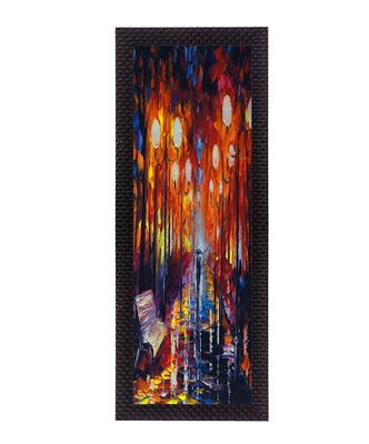 Colorful Scenic Satin Matt Texture UV Art Painting