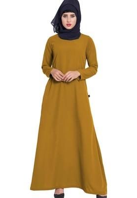 Simple A Line Abaya With Side Pockets
