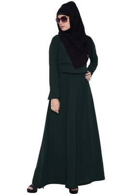 Multi Layered Abaya Dress-Green