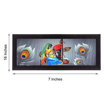 Lord Krishna Satin Matt Texture UV Art Painting