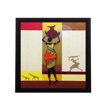 Tribal Woman Satin Matt Texture UV Art Painting