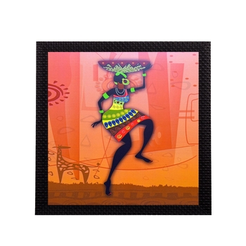 Dancing Tribal Woman Satin Matt Texture UV Art Painting