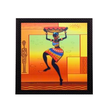 Dancing Tribal Woman Satin Matt Texture UV Art Painting