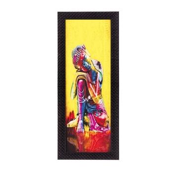 Mighty Lord Buddha Satin Matt Texture UV Art Painting